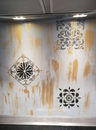 Küchenspiegel mit Mikrozement