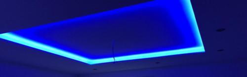 Deckensegel mit LED